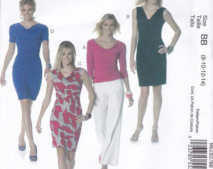 FREE US SHIP McCall's 6282 Sewing Pattern Palmer & Pletsch Wiggle Dress Blouse Size 8/14 16/22 Bust 31.5 32.5 34 36 38 40 42 44  new