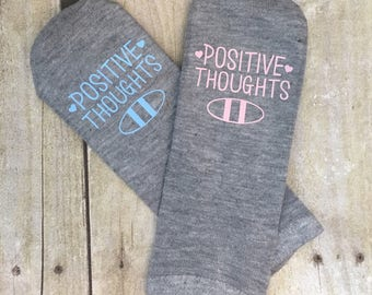 Fertility Ankle Socks,IVF, IUI, Motivational Socks, Positive Thoughts, Beta Day, Procedure