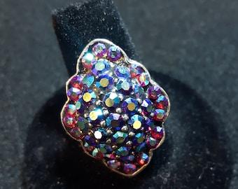 Colourful Faux Gem Adjustable Ring