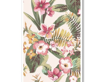 Tropical Print Botanical Print - Nature Print Leaf Illustration Botanical Wall Art Poster - Botanical Art Print Tropical Hawaiian Poster Art