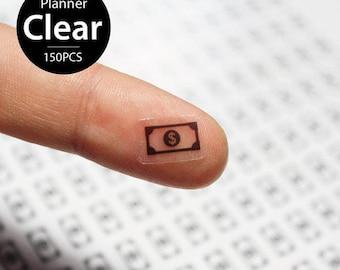 Clear Waterproof Planner Sticker. clear money sticker, payday label, bill sticker, transparent sticker, clear sticker (L144)