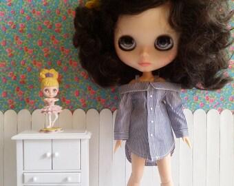 Camisa vestido azúl para Blythe y Pure Neemo