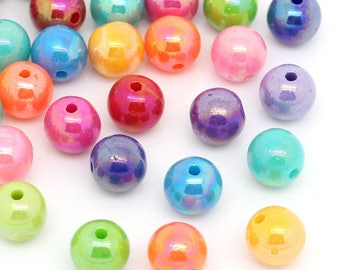 Set of 30 beads 8mm acrylic