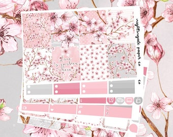 Cherry Blossom (Sakura) Themed Planner Sticker Kit for use with Erin Condren Lifeplanner