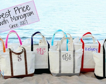 Personalized Bridesmaid tote, Monogram Boat tote, Bag, Monogrammed bag, Bridal party, bride, bridesmaid,  Large boat tote