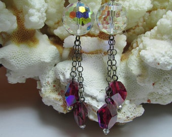 Modernist Earrings, Modernist Drops, Modernist Jewelry, Modernist Jewellery, Swingy Earrings, Ruby Earrings by Josephine's Cotillion