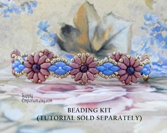 Rose Daisies Beadweaving Bracelet Bead Pack BB71 - Tutorial Sold Separately - Beaded Bracelet Pack