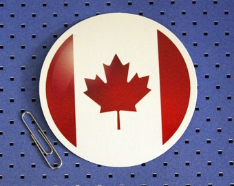 Canada Flag Circle Bumper Sticker