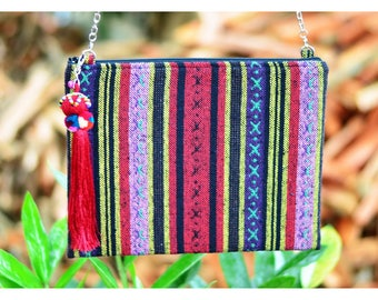 Bohemian / Ipad mini cases / Handbags / Purses / Messenger Bags / Anniversary Gifts / Christmas Gift Ideas / Red / Stripe