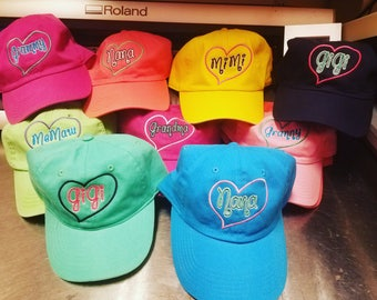 Custom Grandmother Hats- Variety