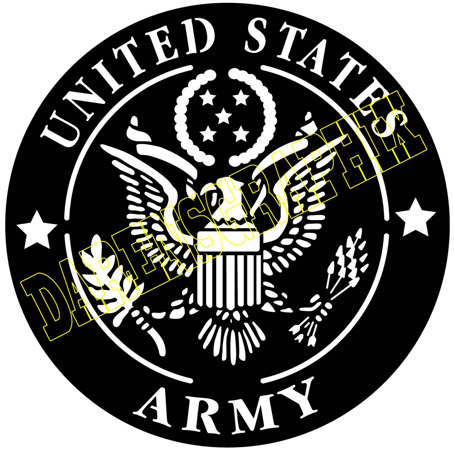 Dxf File Of The Us Army Emblem For Use With A Cnc Machine