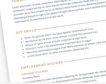 Resume Template Word Professional 2 Page Resume Modern Clean Creative Resume CV Template Cover Letter Instant Download