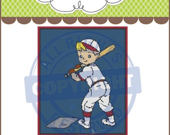 Baseball Player Graphghan,Graphghan,Crochet Pattern Graph,Chart,PDF Instant Download