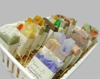 Cold Process Soap Sampler. U choose 6 guest soaps. .Ea. 2.1-2.5 oz. Goats Milk Soap,Party favors. Made by Nana J's Handmades.Free Shipping