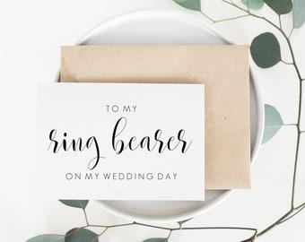 Wedding Card For Ring Bearer. Ring Bearer Wedding Card. Ring Bearer Card. To My Ring Bearer Card. To My Ring Bearer On My Wedding Day Card.