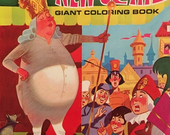 Vintage The Emperors New Clothes Coloring Book Giant Coloring Book Unused