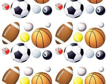 Sports Balls - Ceramic Decals- Enamel Decal - Fusible Decal - Glass Fusing Decal ~ Waterslide Decal - 369853