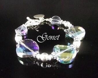 CHINESE CRYSTAL BRACELET (Aurora Borealis)  by Gonet Jewelry Design