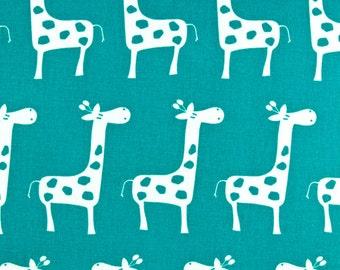 "GIRAFFE Stretch Gisella Giraffe Fabric By The Yard True Turquoise or Choose color Premier Prints Fabric by the yard 54"" wide-1 yard"