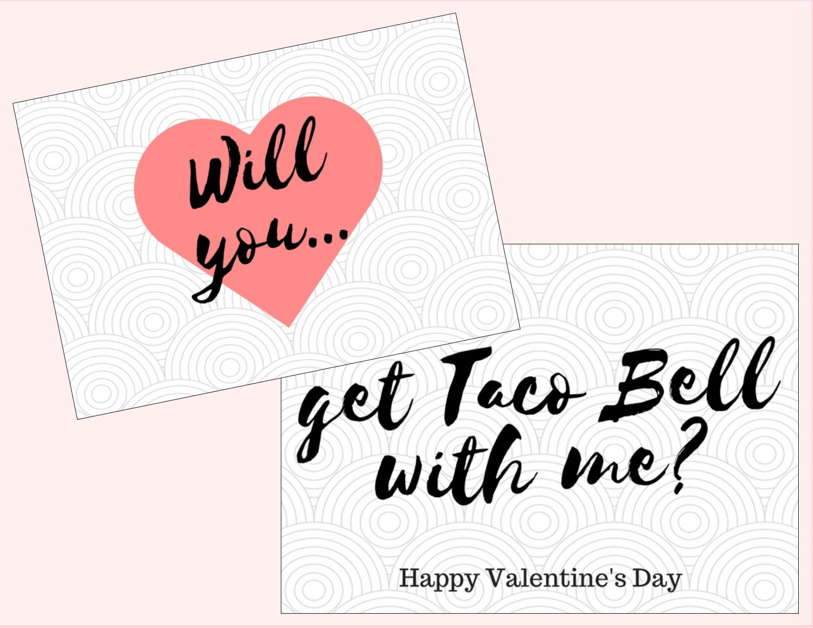 Taco Bell Valentine\'s Day Card