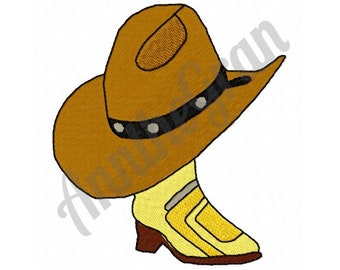Cowboy Boot & Hat - Machine Embroidery Design