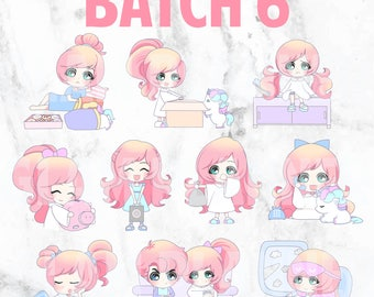 Batch 6 - Lolly and Pop 01 (Kawaii Planner Stickers)