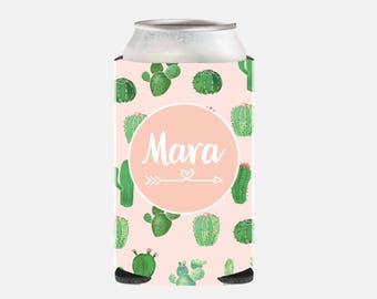 Pink Bridesmaid Gift Ideas Bachelorette Party Favors Cactus Can Cooler Personalized Maid of Honor Gift Ideas Pink Wedding Favors Green Fun