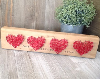 Mothers Heart Collection ~ Four Heart String Art