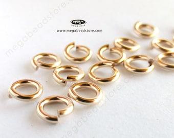 25 pcs 5mm GOLD FILLED Jump Rings 18 Gauge Open F29GF