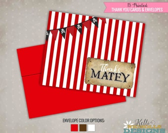 Pirate Birthday Thank You Cards, Thanks Matey Thank You Notes #B128
