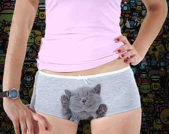 Cat Print Underwear Cat Pin Cat Vikings Cat Husband Gift Idea Cat Book Lover  Cat And