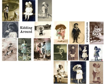 Kidding Around Digital Collage Sheets