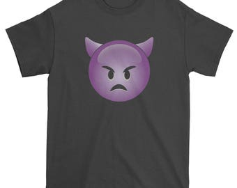 Color Emoticon - Sad Devil Face Smile Mens T-shirt