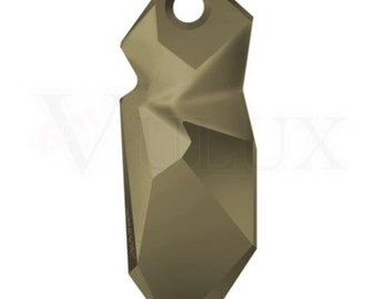 Swarovski 6912 Kaputt Pendant - Metallic Light Gold (MLGLD) 28 mm