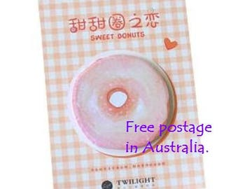 Sweet Donuts 'RED' Post-It Sticky Notes