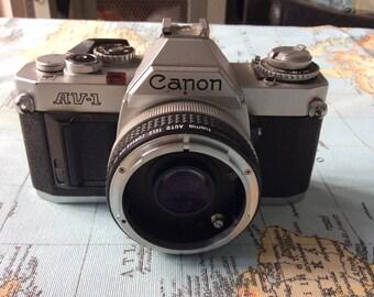 Canon AV-1 Spigelreflex fd camera Vintage