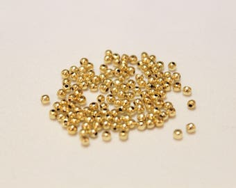 3mm GOLD plated spacers, Gold spacers, Gold round spacers
