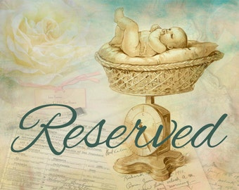 Reserved for Anna Wall,  Reborn Trey by Michelle Fagan