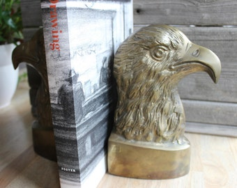 Brass Eagle Bookends, Large Brass Eagles, Bookends