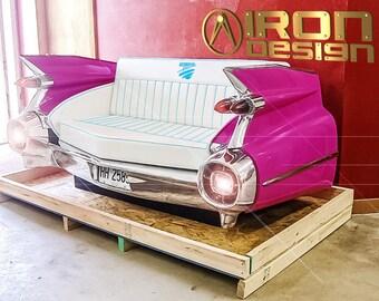 A sofa made of Cadillac de Ville 59