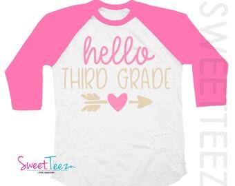 Third Grade Shirt - Third Grade Shirt For Girl - 3rd Grade Shirt - Third Grade Gift - Back To School Shirt - Pink Shirt - Third Grade Gifts