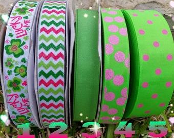 St. Patricks ribbon,  st Patrick glitter ribbons, ribbons, kiss me I'm Irish ribbon,  st. Patrick