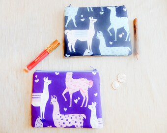 Mothers Day Gift/ Llama Gift for Women/ Make Up Bag/ Wife Gift/ Girlfriend Gift/ Gift for Mom/ Best Friend Gift/ Pencil Case/ Birthday Gift