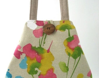 handbag purse ,vegan purse, tote bag with pockets, fabric handbag, shoulder bag, shoulder purse, hobo bag, ready to ship