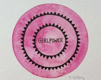 "original mini painting ""girlpower"""