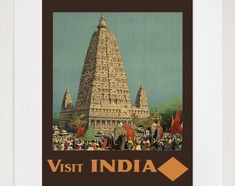 Wall Art India Travel Poster Vintage Print Home Decor (ZT242)
