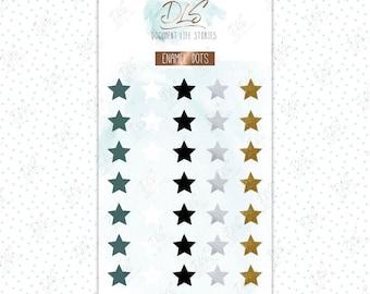 Enamel Dots/ Planner stickers: Falling Stars