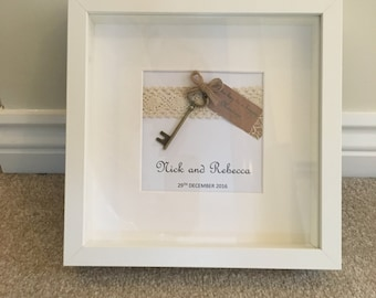 Personalised 'The Key to a Happy Marriage' Print with Frame
