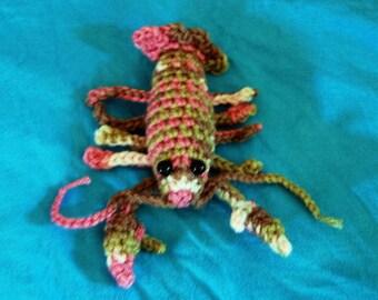 Amigurumi Pink camo lobster
