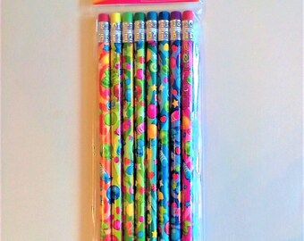 New 8 Scented Pencils With Colorful Patterns Stars Hearts Balloons Candy and Scents Party Favor Supplies